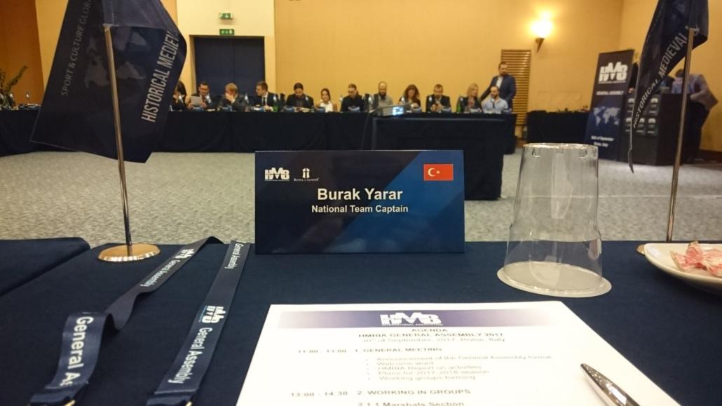 HMBIA 2017 – Roma Zirvesi – Burak Yarar, Genel Kurul masası